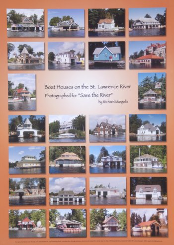 Boat Houses on the St. Lawrence River Poster